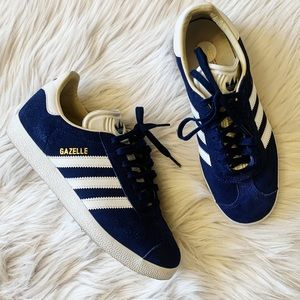 Adidas Navy Blue Suede Gazelle Sneakers Size 6